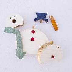 Christmas wooden toy eco friendly wooden by TheWanderingWorkshop