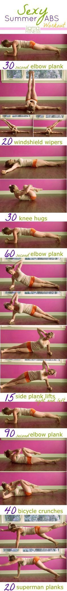 Toned Abs Workout Planks, side plank lifts, knee hugs to get those abs on fire – Ever Well Women