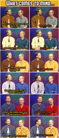 Whose Line ryan and colin what comes to mind when I say...