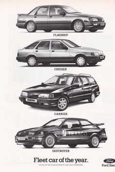 Classic Cars British, Ford Classic Cars, Mid Size Car, Ford Sierra, Pt Cruiser, Ford Escort, Car Set, Car Ford, Ford Motor Company