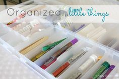 simply organized: pretty little things