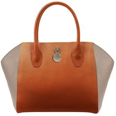 FURLA Olimpia Leather Tote Bag (¥36,195) ❤ liked on Polyvore featuring bags, handbags, tote bags, new cuoio, brown leather handbags, leather tote purse, genuine leather tote, furla handbags and brown leather purse