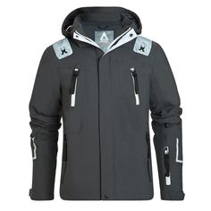 Gaastra Ski jacket Mount Logan - black ski jacket. This ski jacket has reflectors for your safety. Several taped zip pockets, a detachable snow guard and high-quality, waterproof material make this jacket a reliable companion when you're out skiing or snowboarding. The triple-layer, windproof material, taped seams and soft fleece lining protect against the icy cold and wet.