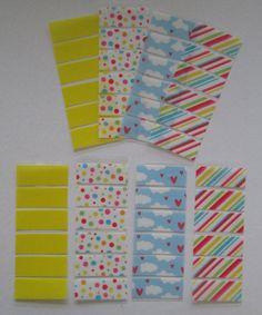 Fun Colors Washi Stickers for Erin Condren Life Planner, plum paper planner, colorful stripes washi, confetti washi,yellow washi,cloud washi