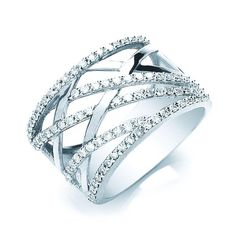 Product Code : DR0000726 9ct Diamond Dress Ring 9ct White Gold Dress Ring 51pts of Brilliant Cut Diamonds ~ $917