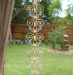 Custom Listing For nicholerh Copper Suncatcher Swirl Rain Chain Handcrafted 12 ft via Etsy