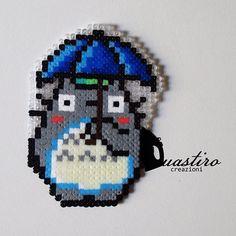 Totoro hama mini beads by duastin_toyland