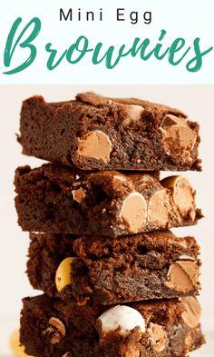 How to Make Mini Egg Brownies Mini Egg Recipes, Easy Easter Recipes, Fun Easy Recipes, Easy Desserts, Dessert Recipes, Fudgy Brownie Recipe, Brownie Ingredients, Brownie Recipes, Best Chocolate