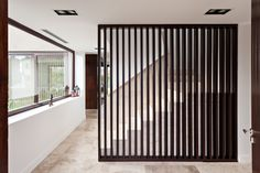 E house. photo by albano garcia. Modern Bungalow, Interior Architecture Design, Home Interior Design, Stairs Design, House, Modern Bungalow House, Wooden Room Dividers, House Staircase, Loft Wall