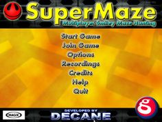 SuperMaze is a simple to learn and play humorous non-violent hunt-and-shoot game using Smileys as the main actors in a maze style environment.
