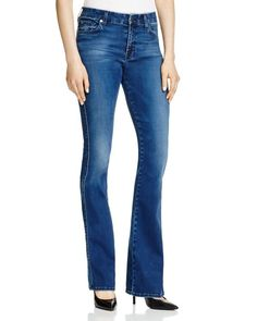 7 for All Mankind Kimmie Boot Cut Jeans in Pure Medium Vintage Sateen