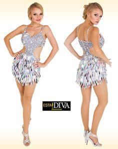 1a722379 Latin Sequin Dress - Macla Brillar Latin Dance Dresses, Ballroom Dance  Dresses, Ballroom Dancing