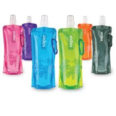Collapsible travel bottles