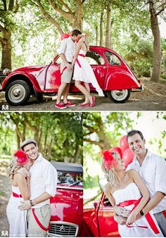 Engagement session in red by Nikki Meyer