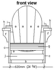 adirondack chair plans - dwg files for cnc machines | layout, Hause und Garten