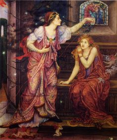 Fair Rosamund and Queen Eleanor Evelyn de Morgan