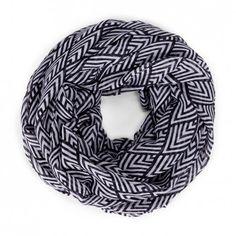 Mini chevron scarf - Black White