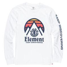 "ELEMENT ""Tri Tip"" L/S tee-shirt à manches longues blanc 39,00 € #skate #skateboard #skateboarding #streetshop #skateshop @playskateshop"
