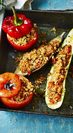 Stuffed vegetables make a great vegetarian main course. Rick Stein's version is one you'll make over and over again.