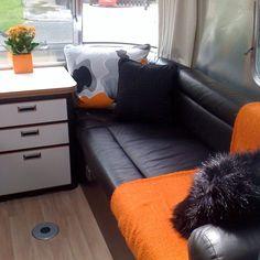 European #Airstream 532 interior #minimalism #smallspace #smallspaceliving #livingsimply #interiordesign #caravan #tinyhouse #tinyhousemovement by andrewjditton