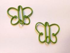 Green Butterflies Paper Clips - Planner, Journal, Bookmark, Scrapbook