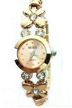 Belanja Bluelans Womens Rhinestone Golden Quartz Wrist Watch Indonesia  Murah - Belanja Jam Tangan Fashion Wanita ca7f335898