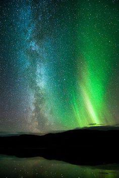 Espectaculo del universo... aurora boreal