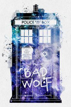 I wantba Bad Wolf Tardis model. Doctor Who Doctor Tardis Bad Wolf by PenelopeLovePrints Doctor Who Tardis, Doctor Who Fan Art, Die Tardis, The Doctor, Doctor Who 10, Bad Wolf Doctor Who, Eleventh Doctor, Tardis Door, Tardis Art