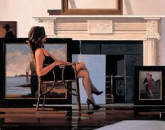 The Model and the Drifter - Jack Vettriano