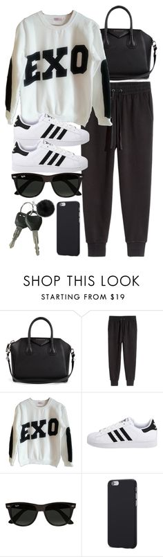 """""""Style #11663"""" by vany-alvarado ❤ liked on Polyvore featuring Givenchy, H&M, adidas Originals, Ray-Ban and Michael Kors"""