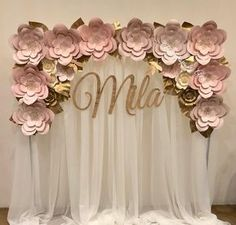 """530 Likes, 10 Comments - Anay Muñoz Rodriguez (@backdropsbyana) on Instagram: """"6x6 Flower Arch Backdrop in Blush colors Thank you and Congratulations @latinesian_love_…"""""""