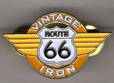 Route 66 Vintage Iron Pin $3.99  www.route66vintageiron.com