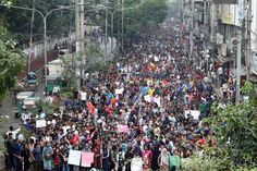 Students Pour Into Dhakas Streets to Demand Safer Roads by JULFIKAR ALI MANIK and MARIA ABI-HABIB