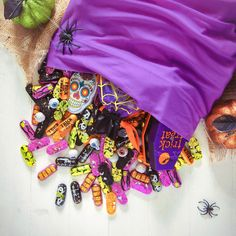 Some people use a pillowcase for trick-or-treating, but we use it to hide all our favourite Halloween treats!