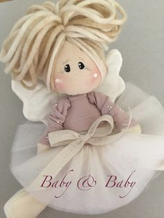 Baby Favors, Pink Doll, Christmas Wood, Doll Maker, Wool Applique, Fairy Dolls, Soft Dolls, Doll Patterns, Sewing Crafts