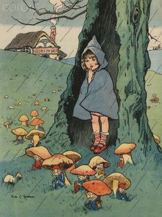 by Rosa C. Petherick: goblins sitting under mushrooms