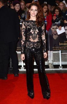 La combinaison transparente Zuhair Murad de Kristen Stewart à la première de Twilight à Londres