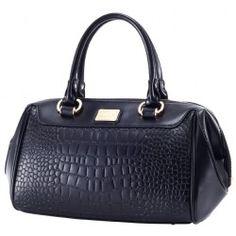 Black Croco Handbag