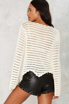 The Mission Crochet Sweater - Clothes | Summer Whites