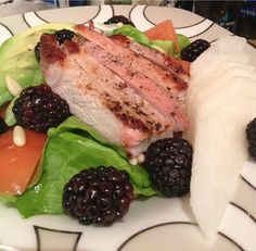 Blackberry and Asian Pear Salad with Pork