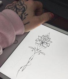 New Ideas tattoo handgelenk lotusblume Spine Tattoos, Foot Tattoos, Body Art Tattoos, Small Tattoos, Sleeve Tattoos, Thigh Tattoos, Garter Tattoos, Rosary Tattoos, Crown Tattoos