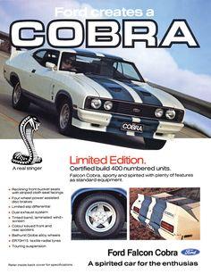 1977 Aussie Ford Falcon Cobra hardtop - Cars X Ford Mustang, Mustang Cars, Ford Gt, Mustang 1966, Mustang Horses, Australian Muscle Cars, Aussie Muscle Cars, Best Muscle Cars, Ford Falcon