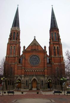 Ste. Anne De Detroit Catholic Church - Detroit, Michigan.  Founded in 1701, it's the second oldest Roman Catholic Parish in the United States