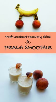 Make this peach smoothie recipe for a solid post-workout recovery drink after your bike ride!