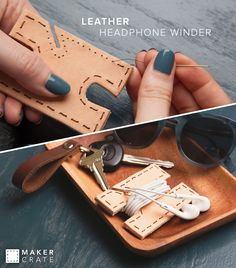 Leather Headphone Winder