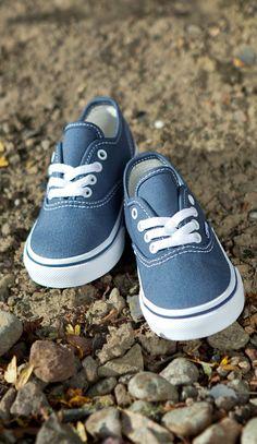 Classic kicks for little feet. Vans Authentic Navy, Navy Trainers, Shoe Shop, Kid Shoes, Boy Fashion, My Boys, Cool Kids, Kicks, Footwear