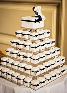 Classy cupcake tower