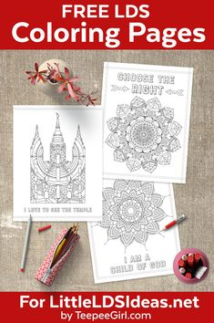 Free LDS Coloring Pages | Perfect for church, nursery, primary, activity days, or Young Women | Great for adults & kids! www.LittleLDSIdeas.net #LDSPrintables #LDSColoring #LDSPrimary via @https://www.pinterest.com/littleldsideas/