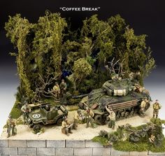 """Coffee Break"" Forest Road WWII Diorama by King & Country"