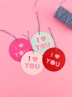 """I have a couple of new products in the shop for Valentine's that I want to share today.First off, these """"XOXO"""" tags, in two sets of colours, come as a set Heart Day, Happy Heart, Diy Craft Projects, Love Days, Paper Source, Saint Valentine, Glitter Cards, Love Wallpaper, Craft Shop"""